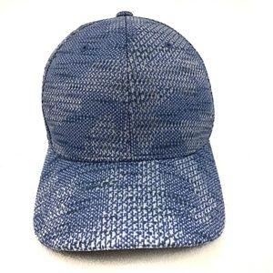 🦋Flexfit Marbled Geo Blue Baseball Cap Hat S/M